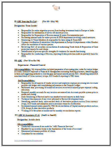 resume korean format
