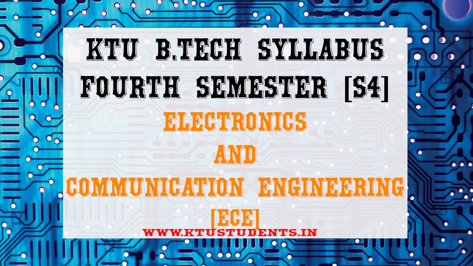 S4 Syllabus Electronics And Communication Engineering Ece Ktu Analog Electronic Circuits Textbook Pdf