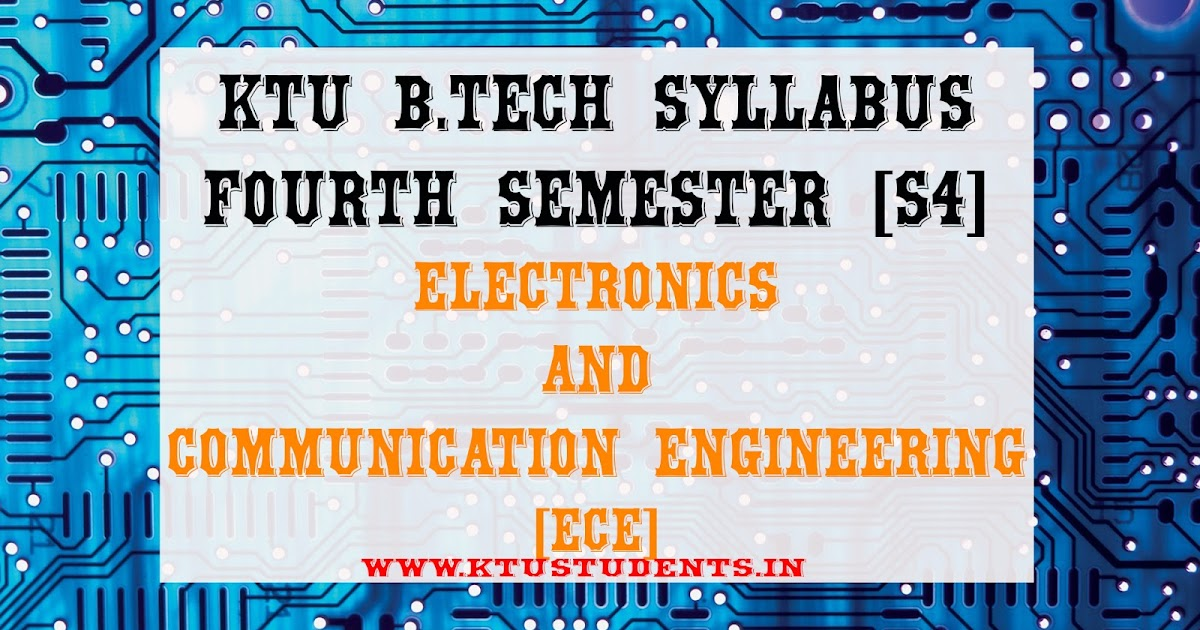 S4 Syllabus Electronics and Communication Engineering [ECE] | KTU Students