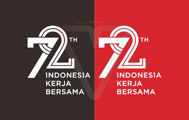 logo hutri ke 72 indonesia 2017 tersier