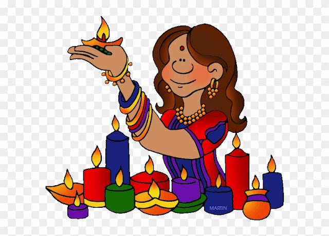 Happy Deepawali Cliparts Animation 2018