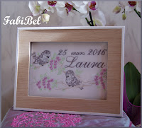 cadeau naissance cadre personnalisé broderie embroidery baby gift