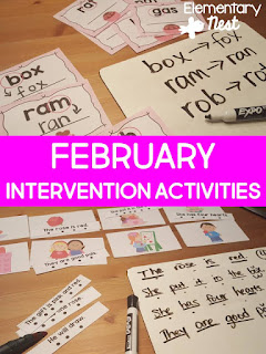 February Intervention- Blog February Activities and FREEBIES- activities for primary students- February reading, math, writing, social studies and more! Valentine's Day, Presidents Day, Black History Month, Dental Health Month
