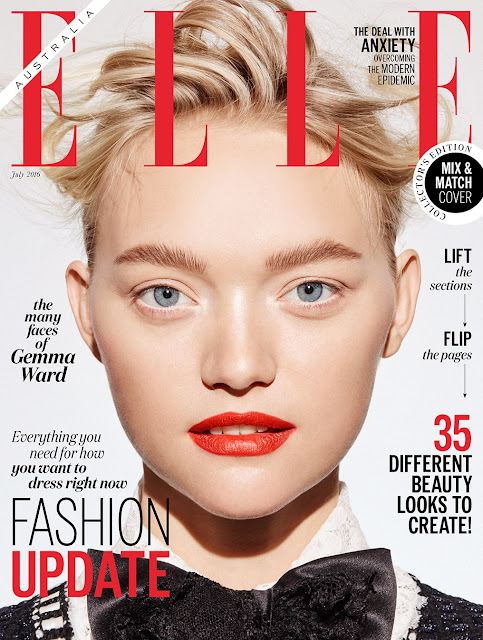 Actress, Fashion Model, @ Gemma Ward by Georges Antoni for Elle Australia, July 2016