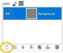 Membuat layer baru di GIMP