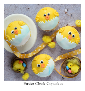 These fun Easter Chick Cupcakes are as easy to make as they are effective.  They're bright and cheerful perfect for a bake sale or Easter party.  The video tutotial further down the page takes you through the process step by step.