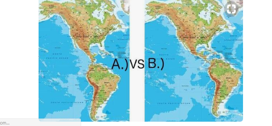 Continents Map Shifted World