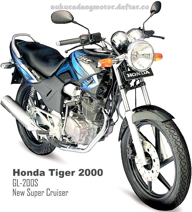 Gambar Honda Tiger 2000 Lama warna Hitam
