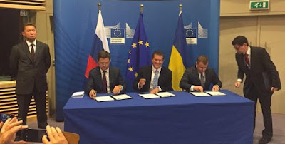 Ukraine, Russia and the EU signed a winter gas deal