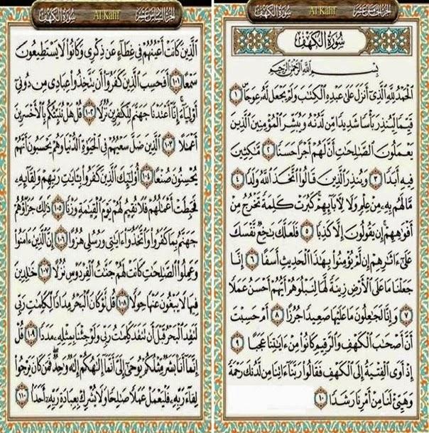 Teks Bacaan Surat Al Kahfi Arab Latin Dan Terjemahannya