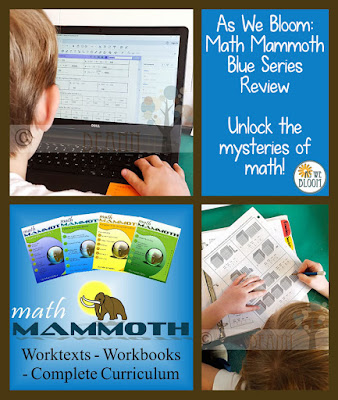 As We Bloom: Math Mammoth Blue Series Review