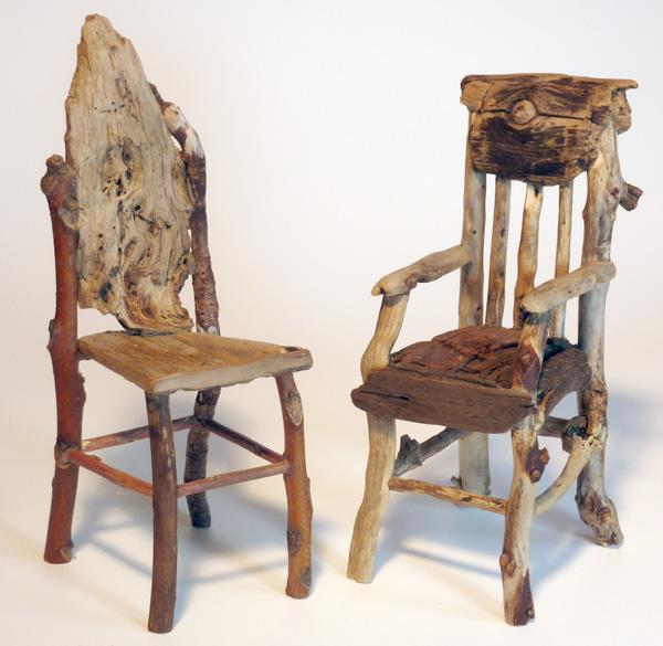 Southern Creek Rustic Furnishings: Miniature Rustic Twig Furniture By George C. Clark: 2011