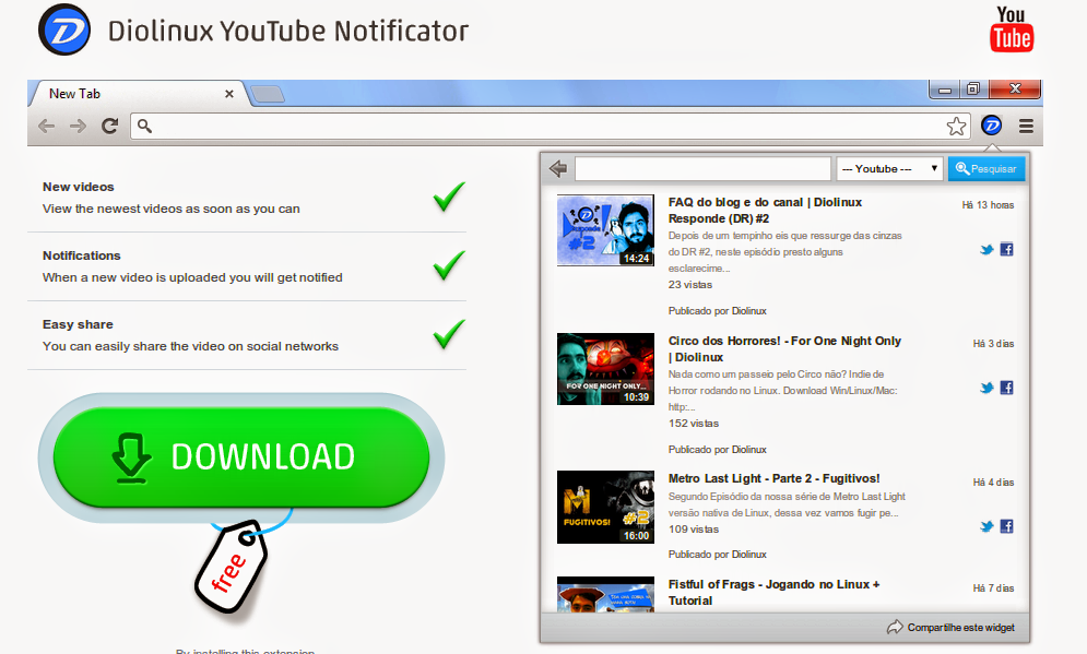 Diolinux Youtube Notification