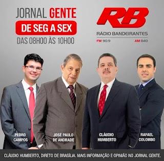 """Cláudio Humberto estreia no """"Jornal Gente"""" da Rádio Bandeirantes"""