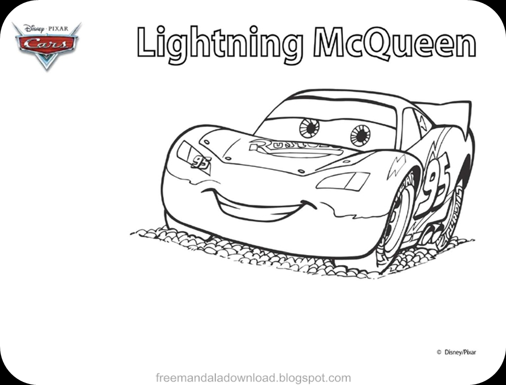 Disney Lightning Mcqueen Coloring Pages download - Free ...