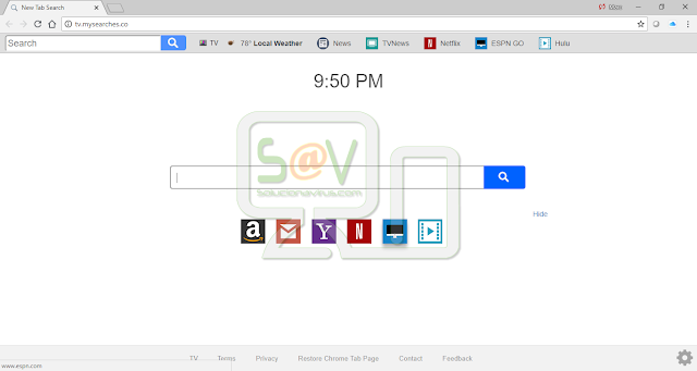 Tv.mysearches.co (Hijacker)