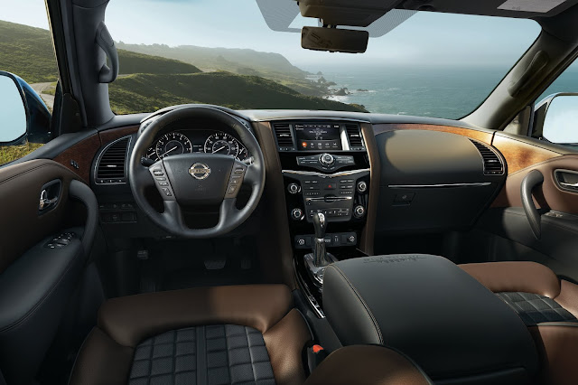 Interior view of 2018 Nissan Armada Platinum Reserve 4WD
