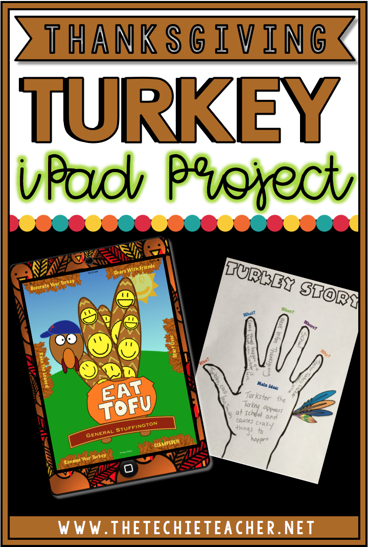 This Thanksgiving turkey iPad project is a fun and FREE writing activity to help students practice the 5 Ws to help them with writing. A turkey themed graphic organizer, stationery and grading rubric are all included!