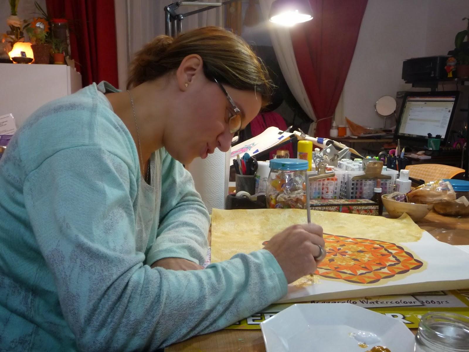 como pintar mandalas, arte terapia con mandalas