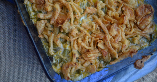 #EasterWeek ~ Cheesy Garlic Green Bean Casserole