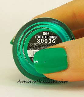 China Glaze green nail polish swatch