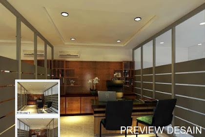 Jasa gambar 3d ruang direksi minimalis modern via online