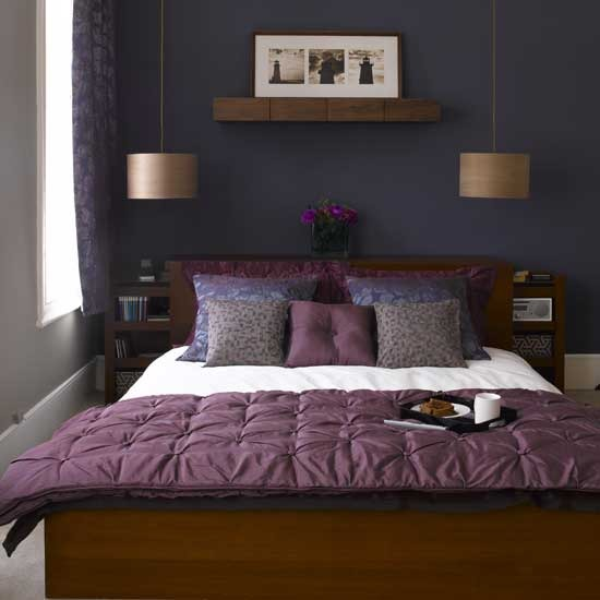 Dark Purple Bedrooms Idea Bright Bedroom Sets Modern