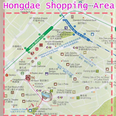 Hongdae shopping area