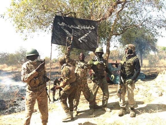 Buhari receives Boko Haram flag