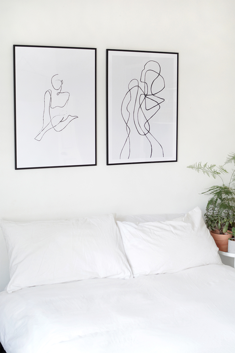 modern art minimal bedroom