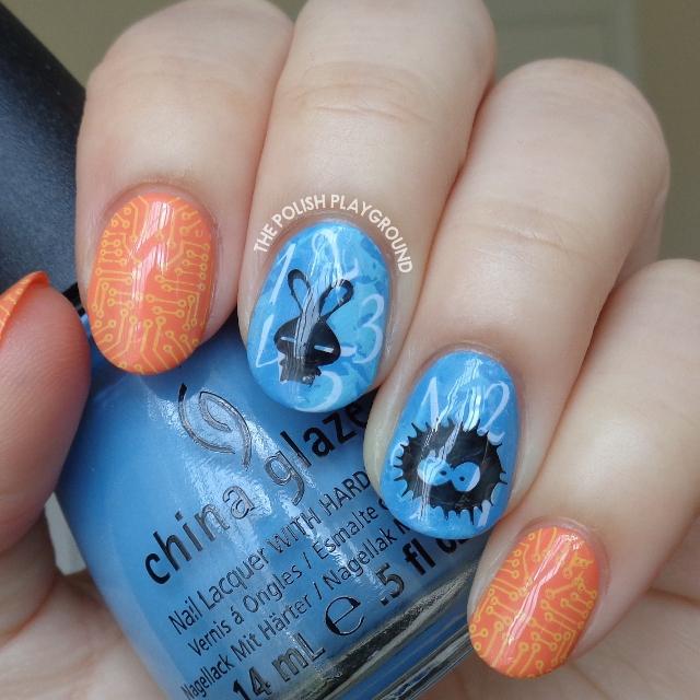 Tamagotchi Inspired Nail Art