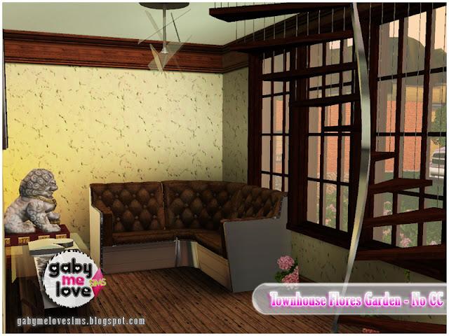 Townhouse Flores Garden |NO CC| ~ Lote Residencial, Sims 3. Sala de estar.