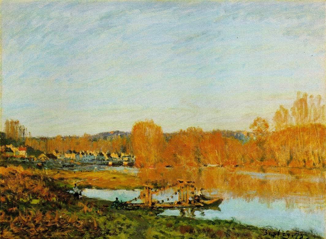 Margem do Senna - Alfred Sisley ~ Um dos mais representativos paisagistas do impressionismo