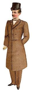 fashion men victorian suit illustration digital clipart