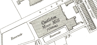 Castleton Moor Mill, OS map, 1908.