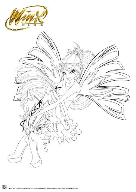 Winx Club Türkiye Bloom Sirenix Boyama Sayfası