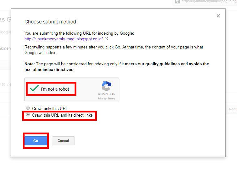 cara submit url manual ke webmaster tool