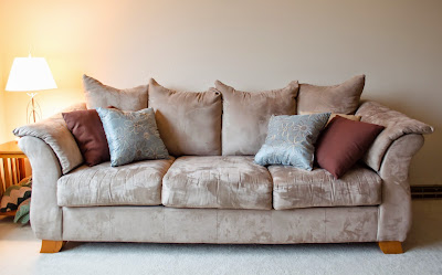 comfortable couch with cushions