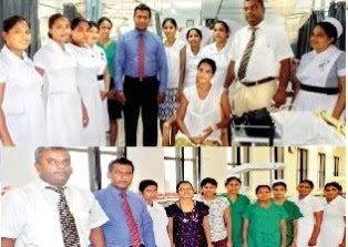 Doctors at the Anuradhapura Teaching Hospital