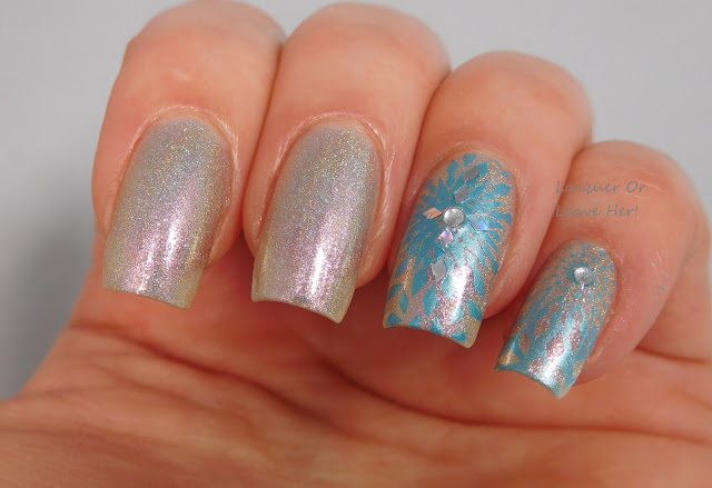 UberChic Beauty 14-01 over The Lady Varnishes Fairy Queen