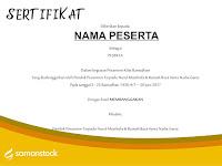 100 Contoh Desain Sertifikat/Piagam Penghargaan Pesantren Kilat Ramadhan