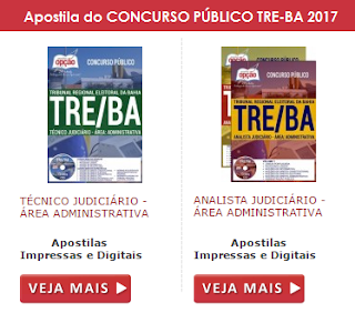 Apostila concurso do Tribunal Eleitoral da BA (TRE da Bahia) 2017