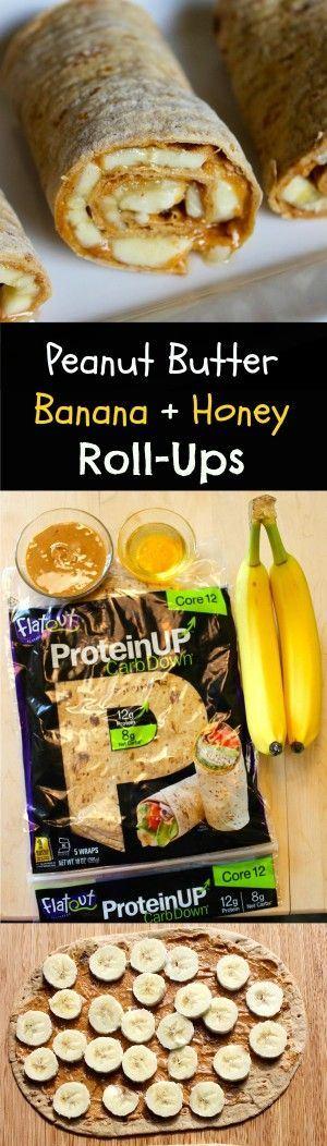 BANANA PEANUT BUTTER AND HONEY ROLL-UPS