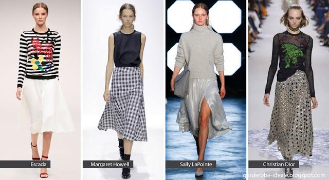 Расклешенные юбки на подиуме показ весна лето 2018