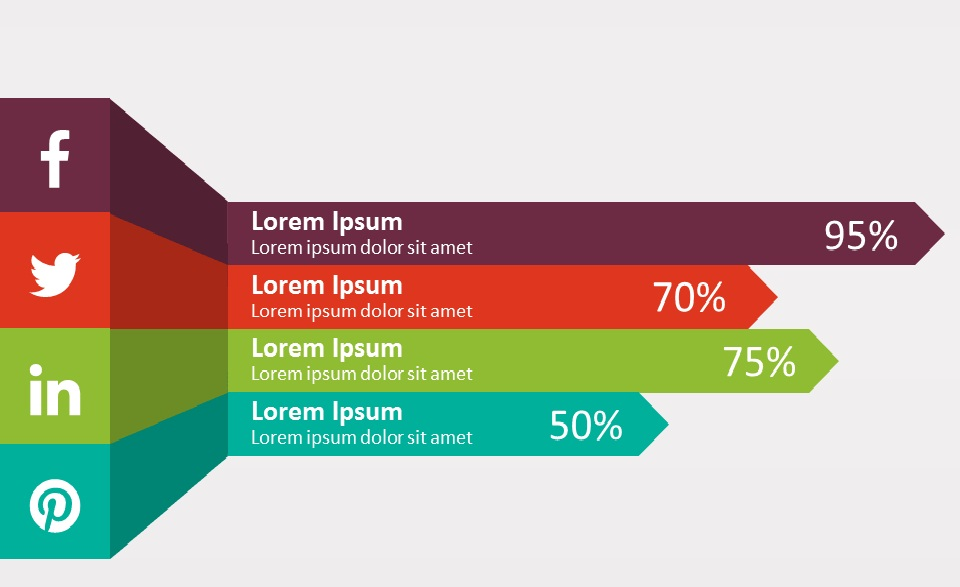 5 free powerpoint templates with arrows and texts - powerpoint, Presentation templates