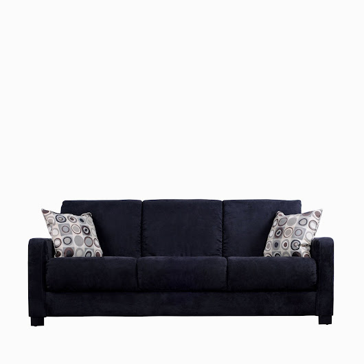 black microfiber couch