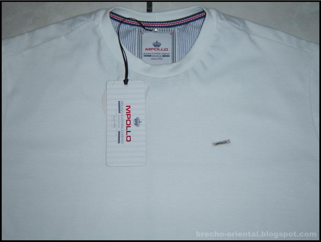 5320ab4055 Camiseta masculina 100% algodão. Cor  Branco Marca  M.Pollo Tamanho  G  Estado  Produto novo por R 50