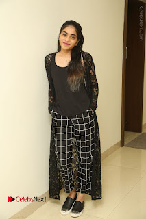 Actress Punarnavi Bhupalam Stills in Black Dress at Pittagoda Press Meet  0135.JPG