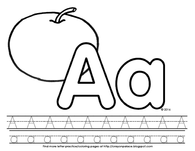 A is for apple\
