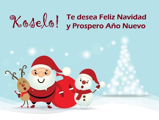 Koselo! te desea Feliz Navidad